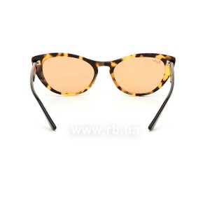 Очки Ray-Ban Nina RB4314N-1248-3L Light Striped Brown | Dark Yellow, вид сзади