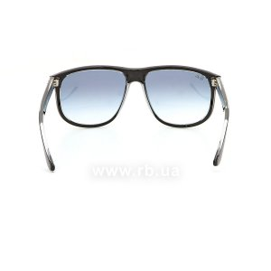 Очки Ray-Ban Boyfriend RB4147-6039-X0 Black | Blue Gradient Mirror, вид сзади