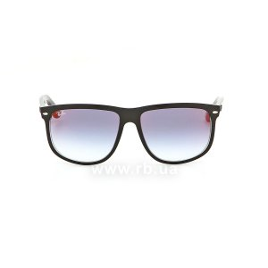 Очки Ray-Ban Boyfriend RB4147-6039-X0 Black | Blue Gradient Mirror, вид спереди