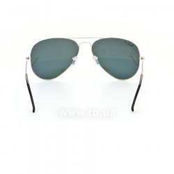 Очки Ray-Ban Aviator Flash Lenses RB3025-003-59 Silver | Silver Mirror Polarized, вид сзади