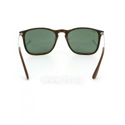 Очки Ray-Ban Chris RB4187-710-71 Havana/ Grey/Green, вид сзади