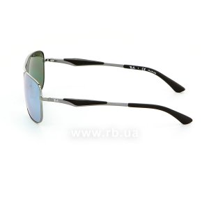 Очки Ray-Ban Active Lifestyle RB3515-004-Y4 Gunmetal | Crystal Silver Mirror Polarized, вид слева