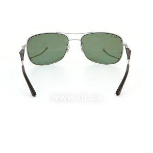 Очки Ray-Ban Active Lifestyle RB3515-004-Y4 Gunmetal | Crystal Silver Mirror Polarized, вид сзади