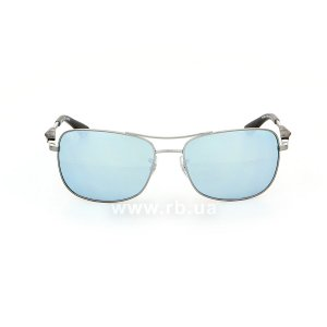 Очки Ray-Ban Active Lifestyle RB3515-004-Y4 Gunmetal | Crystal Silver Mirror Polarized, вид спереди