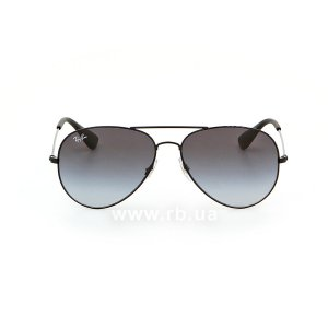 Очки Ray-Ban Youngster Aviator RB3558-002-8G Black | Grey Gragient, вид спереди