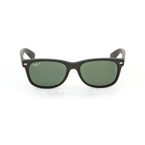 Очки Ray-Ban New Wayfarer RB2132-622-58 Black | Natural Green Polarized, вид спереди