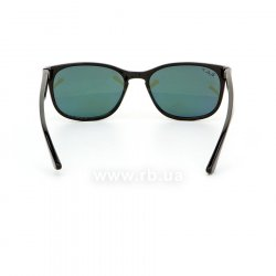 Очки Ray-Ban Highstreet RB2184-901-58 Black | Natural Green Polarized, вид сзади