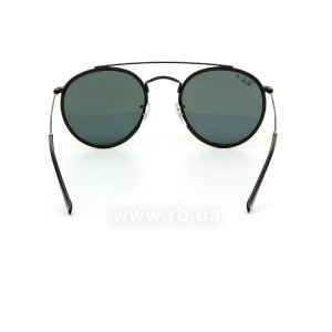 Очки Ray-Ban Round Double Bridge RB3647N-002-58 Black/Natural Green Polarized, вид сзади