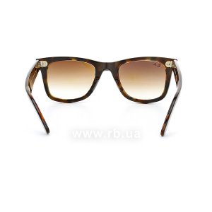 Очки Ray-Ban Original Wayfarer RB2140-1276-51 Brown / Dark Havana | Faded Brown, вид сзади