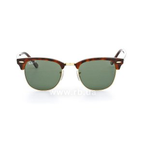 Очки Ray-Ban Clubmaster RB3016-990-58 Havana/Arista | Polarized Natural Green, вид спереди