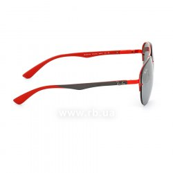 Очки Ray-Ban Scuderia Ferrari Collection RB3460M-F012-6G Red / Grey | APX Silver Mirror, вид справа