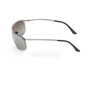 Очки Ray-Ban Top Bar Chromance RB3542-029-5J Grey| Silver Mirror Polarized, вид слева
