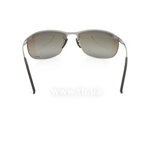 Очки Ray-Ban Top Bar Chromance RB3542-029-5J Grey| Silver Mirror Polarized, вид сзади