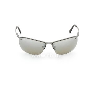 Очки Ray-Ban Top Bar Chromance RB3542-029-5J Grey| Silver Mirror Polarized, вид спереди