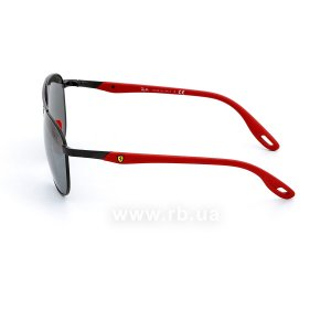 Очки Ray-Ban Scuderia Ferrari Collection RB3659M-F002-6G Red / Black | Silver Mirror, вид слева