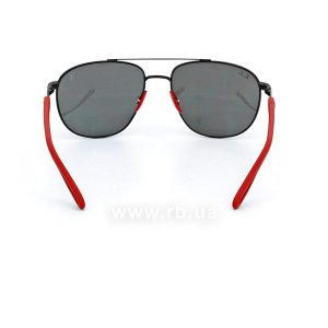 Очки Ray-Ban Scuderia Ferrari Collection RB3659M-F002-6G Red / Black | Silver Mirror, вид сзади