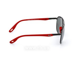 Очки Ray-Ban Scuderia Ferrari Collection RB3659M-F002-6G Red / Black | Silver Mirror, вид справа