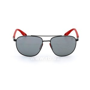 Очки Ray-Ban Scuderia Ferrari Collection RB3659M-F002-6G Red / Black | Silver Mirror, вид спереди