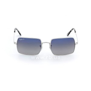 Очки Ray-Ban Rectangle RB1969-9149-78 Silver | Blue Gradient Polarized, вид спереди