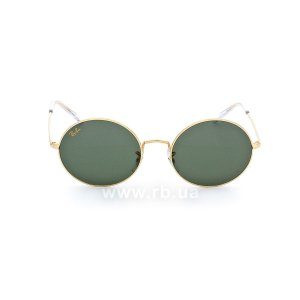 Очки Ray-Ban Oval RB1970-9196-31 Arista | Natural Green, вид спереди