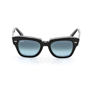 Очки Ray-Ban State Street RB2186-1294-3M Black | Blue Gradient, вид спереди