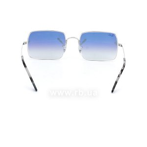 Очки Ray-Ban Rectangle RB1969-9149-3F Silver | Blue Gradient , вид сзади