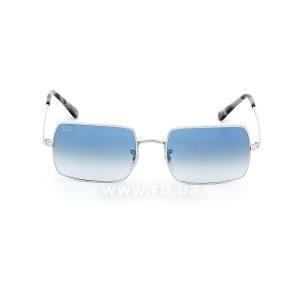 Очки Ray-Ban Rectangle RB1969-9149-3F Silver | Blue Gradient , вид спереди