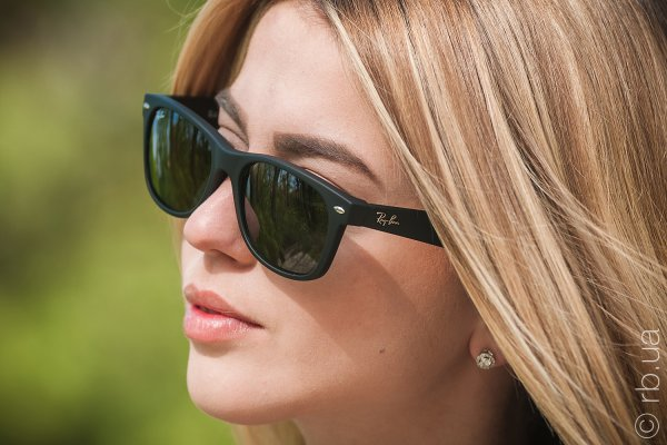 Ray-Ban New Wayfarer RB2132 622 на людях 6