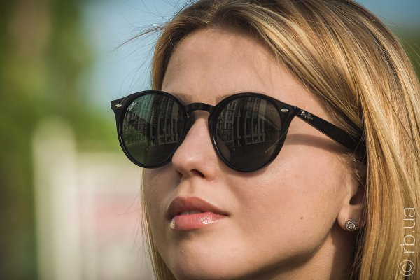 Ray-Ban Highstreet RB2180 601/71 на людях 1