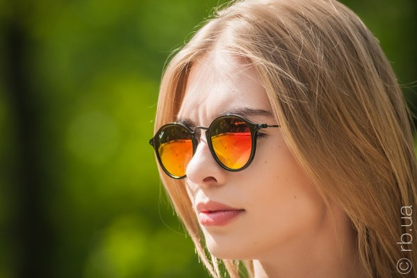 Ray-Ban Round Icons Flash Lenses RB2447 901/4W на людях 5