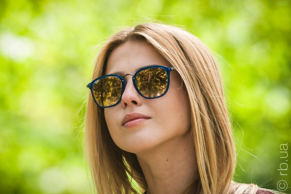 Ray-Ban Highstreet Flat Lenses RB2448N 6254/7O на людях 1