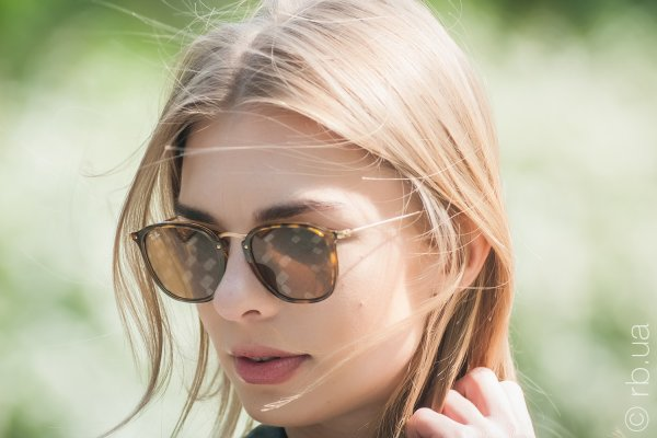 Ray-Ban Highstreet Flat Lenses RB2448N 710 на людях 5