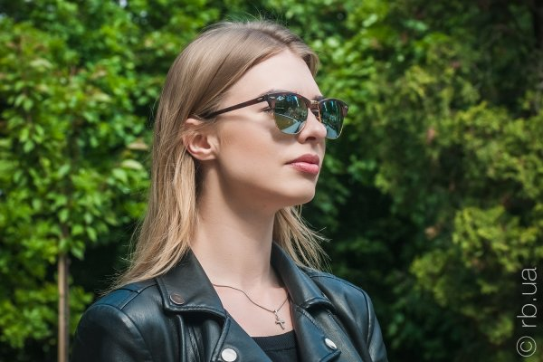 Ray-Ban Clubmaster Flash Lenses RB3016 1145/30 на людях 4