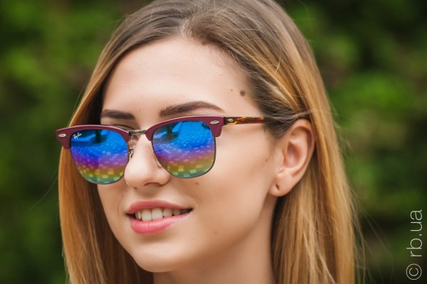 Ray-Ban Clubmaster Mineral Flash Lenses RB3016 1222/C2 на людях 5