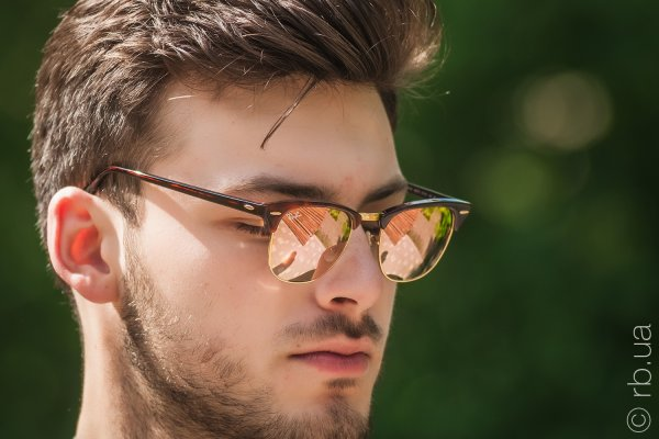 Ray-Ban Clubmaster Flash Lenses RB3016 990/7O на людях 3