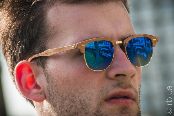 Ray-Ban Clubmaster Wood RB3016M 1180/7Q на людях 3