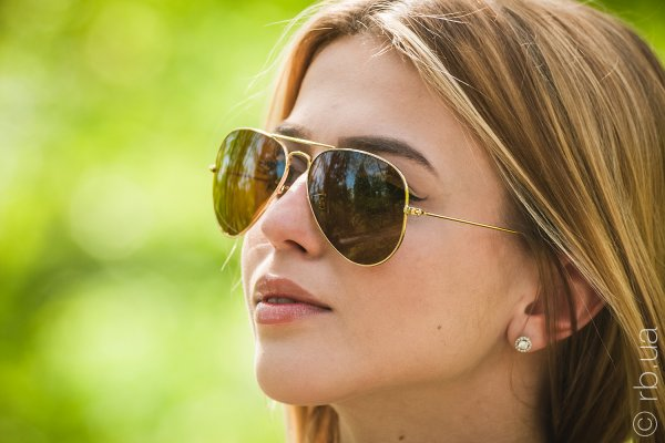 Ray-Ban Aviator Large Metal RB3025 001/33 на людях 5