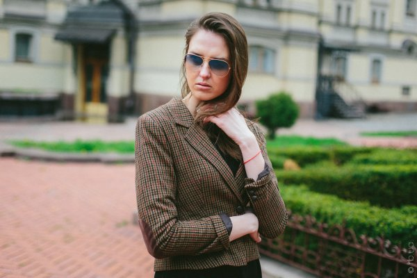 Ray-Ban Aviator Large Metal RB3025 001/3F на людях 10