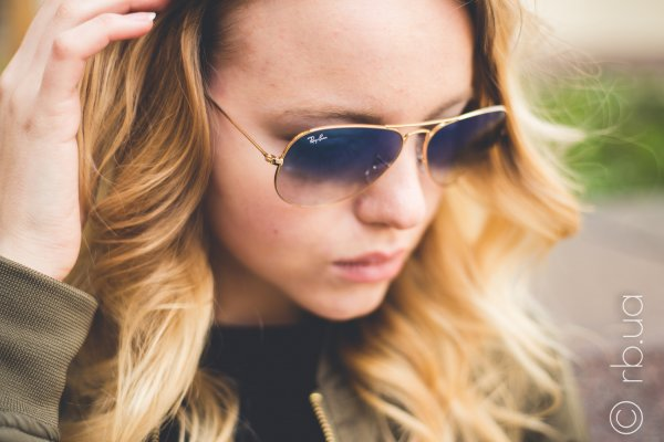 Ray-Ban Aviator Large Metal RB3025 001/3F на людях 12