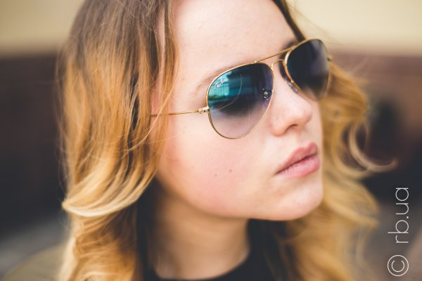 Ray-Ban Aviator Large Metal RB3025 001/3F на людях 13
