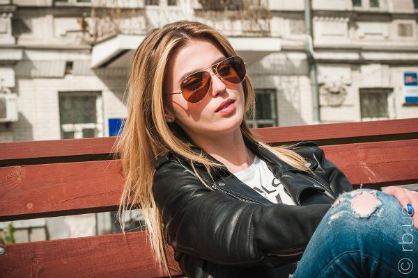 Ray-Ban Aviator Large Metal RB3025 001/4I на людях 2
