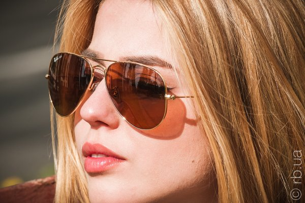 Ray-Ban Aviator Large Metal RB3025 001/4I на людях 3