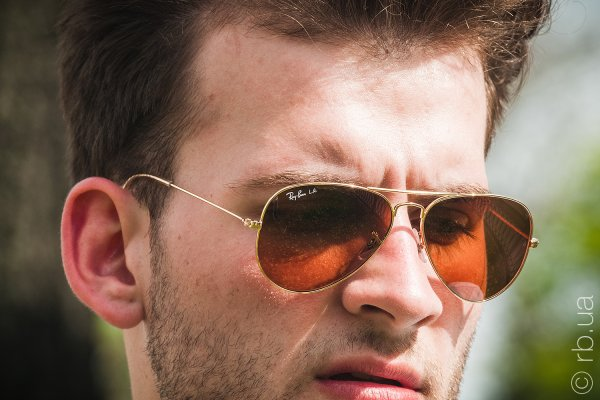 Ray-Ban Aviator Large Metal RB3025 001/4I на людях 5