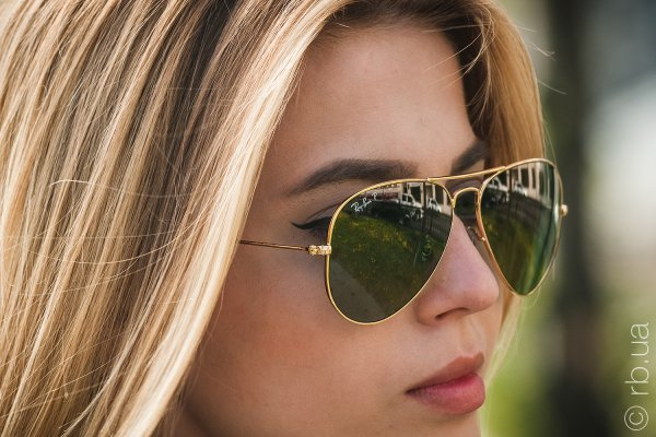 Ray-Ban Aviator Large Metal RB3025 001/M4 на людях 4
