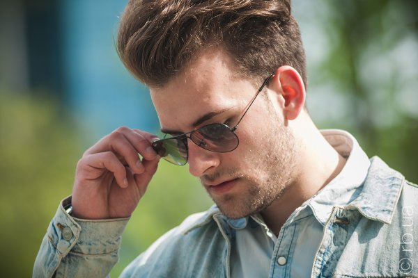 Ray-Ban Aviator Large Metal RB3025 002/32 на людях 3