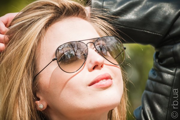 Ray-Ban Aviator Large Metal RB3025 002/32 на людях 6
