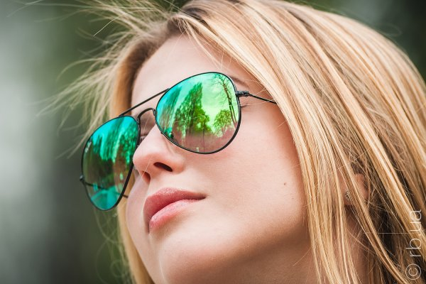 Ray-Ban Aviator Flash Lenses RB3025 002/4J на людях 8