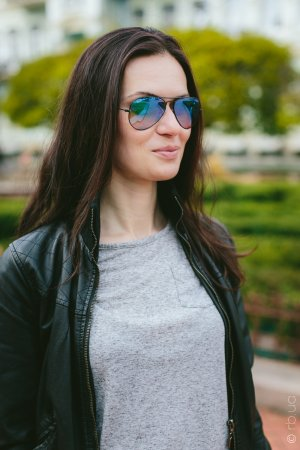 Ray-Ban Aviator Flash Lenses RB3025 002/4O на людях 2