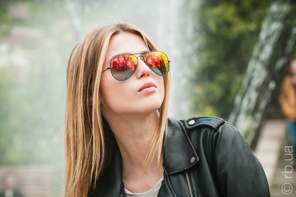 Ray-Ban Aviator Flash Lenses RB3025 002/4W на людях 2