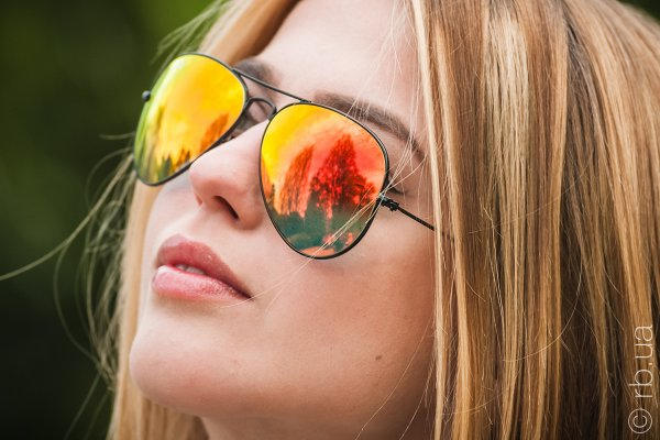 Ray-Ban Aviator Flash Lenses RB3025 002/4W на людях 4